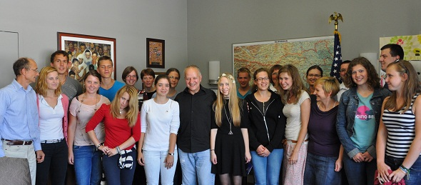 Ambassador Mussomeli with the Summer History School participants (Photo State Department)